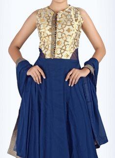 Majestic Batan Work  Anarkali Suit
