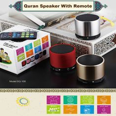 Specifications  1)Portable and mini speaker  2)Option to store other Qari/reciter Audio,Dua,Adhan,Nasheed as optioned in the pen via USB cable   Full recitation by 28 different famous Imams and 26 different translation audio. The speaker is working with remote, you can select the Imams, Translation,Surah, etc.   The remote: 1.Using the remote to control the Quran speaker and enjoy listening. 2.Support MP3 function.You can download islamic music,speech etc. on the speaker then play them…