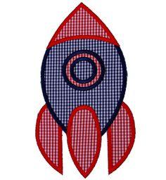 Space Rocket Applique Design