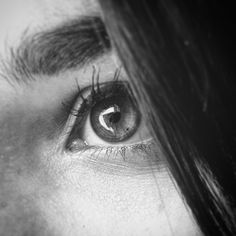 Black and white eyes