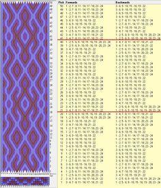 24 tarjetas, 3 colores, repite cada 20 movimientos // sed_776a diseñado en GTT༺❁