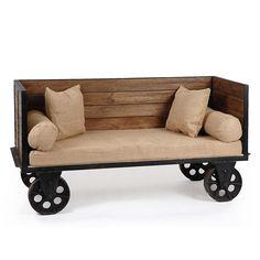 Urbanoloji Endüstriyel Sofa Bench-Döküm Tekerlekli - UBNH009, uygun ödeme ve hızlı kargo seçenekleriyle Altincicadde.com'da sizleri bekliyor.