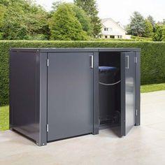 Mülltonnenbox von Siebau Stair Storage, Storage Bins, Carport Designs, Recycling Bins, Ceiling Design, Outdoor Furniture, Outdoor Decor, Small Spaces, Shed