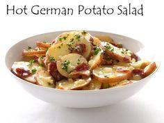 Oktoberfest Hot German Potato Salad...nothing says Oktoberfest better than brats, kraut, and hot potato salad.  Das gut!