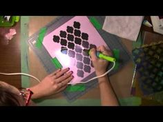 How to Make Your Own Stencils with clear dividers from a dollar store!  (Art Geeks The Artistic Pagans Playground Recess #3)