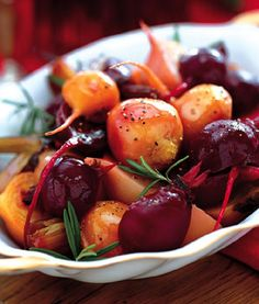 ....and we got some beets from the neighbor as well         Roasted Baby Beets Recipe  at Epicurious.com