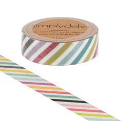Masking Tape - Masking Tape Washi-Tape Streifen Bunt - ein Designerstück von simplydeko bei DaWanda