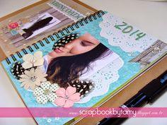 DIY, Coisas fofas papelaria, minha paixão pelo Scrapbook artesanal, híbrido e digital!: Smash- mini book passo a passo página Abençoado