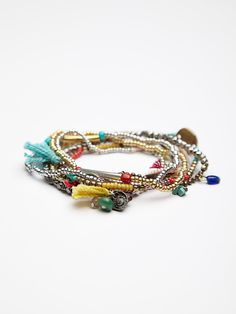 Free People Stack Em Up Beaded Bracelet, S/.78.67