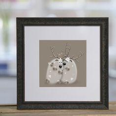 Kiss Dear - £40 framed print from Sophie Morrell