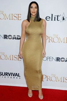 hollywood-fashion: Kim Kardashian in vintage Gianni Versace at