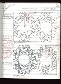 Page 33 of 191; Notes of Islamic Star Patterns by A. J. Lee from November 1975