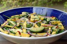 Ensalada de mango, aguacate y rúcula - Recetas de Laylita Dried Fruit, Salad Recipes, Potato Salad, Avocado, Potatoes, Favorite Recipes, Healthy, Ethnic Recipes, Food