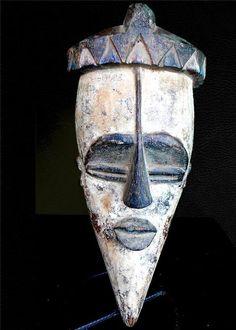 Fine Tribal Lwalwa Mask Dr Congo