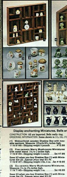 1980p3 Miniture Things, Wine Rack, Retro Vintage, Stuffed Mushrooms, Merry, Mid Century, Ceramics, Holiday Decor, Kitchen
