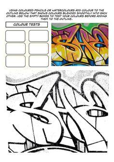 Set of 3 Graffiti Worksheets