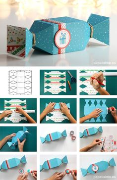 Candy-Box-Geschenk-aus-Papier-How-to-Make-Candy-Bo. - Candy-Box-Geschenk-aus-Papier-How-to-Make-Candy-Bo. Paper Gifts, Diy Paper, Paper Gift Box, Paper Box Template, Diy Gift Box Template, Box Templates, Gift Wrapper, Candy Boxes, Gift Packaging