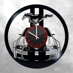 Ford Mustang Handmade Vinyl Record Wall Clock Fan Gift - VINYL CLOCKS