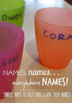 Looking to help your kids learn their names? Here are some simple ways to help kids learn and recognize their names! These fun ideas for kids will have them recognizing their letters and the letters in their name and putting it all together in no time! #preschool #kindergarten #names #teaching #activities #toddler #kidsactivities
