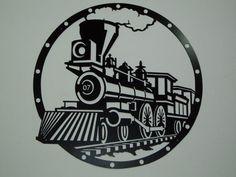 vintage train stencil - Google Search