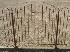 Our Antique Style Double Swing Gate, 5 Ft (60 ) X 5 Ft (60 ), Matches The  Interlocking Wrought Iron Fencing We Sell Here At A Rustic Garden.
