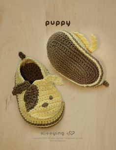 Ravelry: Puppy Baby Booties Crochet PATTERN pattern by Kittying Ying