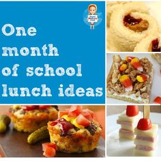One whole month of school lunch ideas for kids