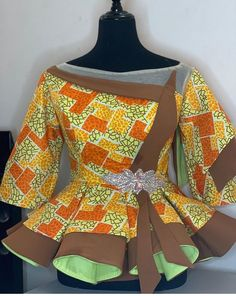 African Maxi Dresses, Latest African Fashion Dresses, African Dresses For Women, African Print Fashion, African Attire, African Wear, African Inspired Clothing, African Blouses, Fancy Blouse Designs
