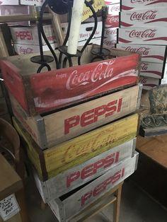 Soda crates for van Pepsi, Coca Cola, Coke, Shipping Crates, Busa, Repurposed, Nostalgia, Van, Shipping Boxes