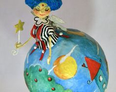 Azzurra on Etsy. Art Doll Le Cartarughe
