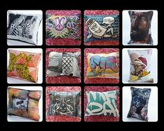 Graffitiville is a passion project founded by two ladies who love colour, art, beautiful things, creativity as well as the distinctiveness embodied in graffiti art. Drake Artist, Graffiti Tagging, Handmade Cushions, Graffiti Artists, Passion Project, Meet The Artist, Scatter Cushions, Off The Wall, Couches