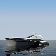 Ni Ji Jing 11 5m Sports Trimaran Yacht by Benjamin Eddy