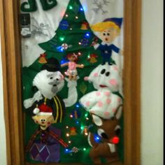 island of misfit toys door - Pinterest Christmas Door Decorations