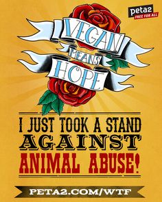 I just took a stand against animal abuse! #WTFpeta2