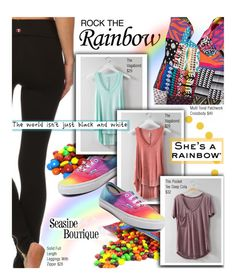 """Rainbow Style"" by seaside-boutique ❤ liked on Polyvore featuring Vans, women's clothing, women, female, woman, misses and juniors"