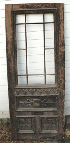 Love this old door. The details are amazing. Would love this as a pantry door (with frosted glass) Vintage Doors, Antique Doors, Old Doors, Windows And Doors, Bedroom Door Design, Bedroom Doors, Ikea Bedroom, Master Bedroom, White Bedroom