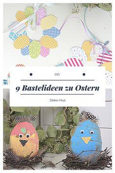Basteln mit Kindern Osterkranz Eierkranz #DIYblogger Beschäftigung für Kinder Upcycling