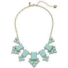 Kate Spade New York Daylight Jewels Necklace, Blue (460 GTQ) ❤ liked on Polyvore featuring jewelry, necklaces, blue, jewels jewelry, adjustable necklace, heart shaped necklace, heart shaped jewelry and blue heart necklace
