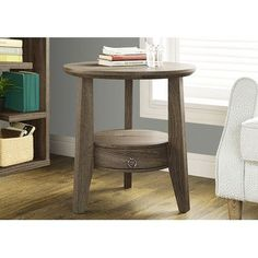 Monarch Specialties Inc. End Table Finish: Dark Taupe