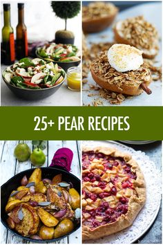 One of Canada's most underrated fruits - the pear! Here's more than 25 pear recipes so you can make the most of this juicy fall fruit! Party Recipes, Fruit Recipes, Fall Recipes, Summer Recipes, Fruit And Veg, Fruits And Veggies, Pear Recipes Dinner, Yummy Yummy, Delicious Recipes
