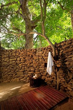 Outdoor shower, Lion Sands Private Game Reserve, South Africa