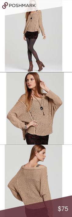 Free People Taupe Laguna Coast V Neck Sweater Free People Laguna Coast V Neck Sweater in a Taupe/Tan Color. It is a knitted crocheted material and semi see through. Probably best to wear with a tank or camisole underneath. Super cute and in great condition. Size Medium.  •Offers Accepted  •No Trades  •Bundle discounts Free People Sweaters V-Necks