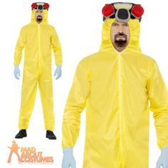 #Adult breaking bad costume walter white #hazmat #yellow chemical suit fancy dres,  View more on the LINK: 	http://www.zeppy.io/product/gb/2/161398852343/
