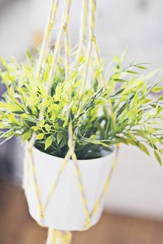 DIY: macramé plantenhanger
