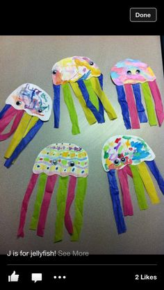 Jelly fish craft: Replace brands with sea creatures.  J is for jellyfish O is for octopus etc