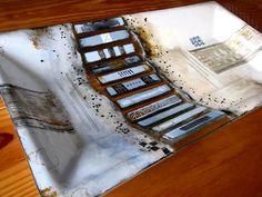 M Beneke fused glass platter