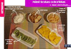A Associação Portuguesa de Nutricionistas aconselha-te estas Mini Tostas Coloridas