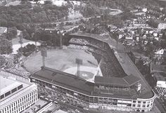 Forbes Field : The First Baseball Stadium in the U.S. - 1909 In 1909 the first baseball stadium, Forbes Field, was built in Pittsburgh, followed soon by similar stadiums in Chicago, Cleveland, Boston, and New York.