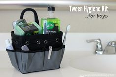 Tween Hygiene Kit For Boys: Grown up enough for the young man he is without wreaking of cologne. #MySignatureMove #ad