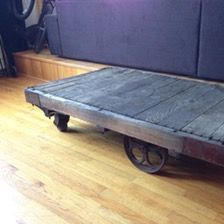 vintage industrial factory railroad steampunk cart dolly pallet